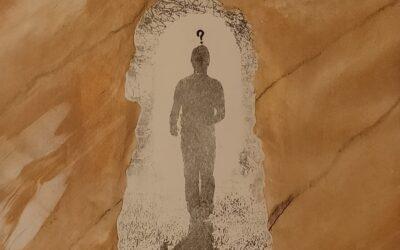 Destino 09                       Destino: Quale sarà il destino dell essere umano? Su una tavola di legno ho voluto creare un finto marmo immaginario dai colori istintivi di quel preciso momento. Da questa parete di fantasia l'immagine non nitida di un uomo che sta camminando verso il suo destino. Qualunque destino che avrà l'uomo la nostra unica salvezza sarà la mente(evidenziata nell'immagine in ombra)