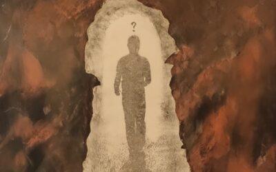 Destino 16     Quale sarà il destino dell essere umano? Su una tavola di legno ho voluto creare un finto marmo immaginario dai colori istintivi  di quel preciso  momento. Da questa parete di fantasia l'immagine non nitida di un uomo che sta camminando verso il suo destino. Qualunque destino che avrà l'uomo la nostra unica salvezza sarà la mente(evidenziata nell'immagine in ombra)